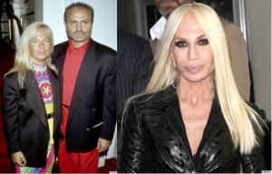 La diseñadora de modas Donatella Versace, de 57 años, ha pasado por varias cirugías desde los '90, entre éstas: corrección de nariz, inyección en los labios, e inyecciones de colágeno, según el Huffington Post. A la izquierda, Donatella en 1990; a la derecha, 14 años después. (Foto: Tomada/Huffington Post)
