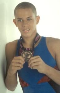 """""""Tingui"""" Vargas sorprendió a la Isla cuando ganó una medalla de bronze a los 14 años en los Juegos Panamericanos de Winnipeg en el 1999.  Tomada de: Endi.com"""