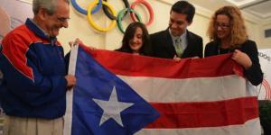 La presidente del COPUR, Sara Rosario, durante una actividad en la Casa Olimpica (NotiCel)