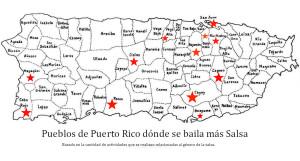 Mapa de Pueblos donde mas se baila salsa