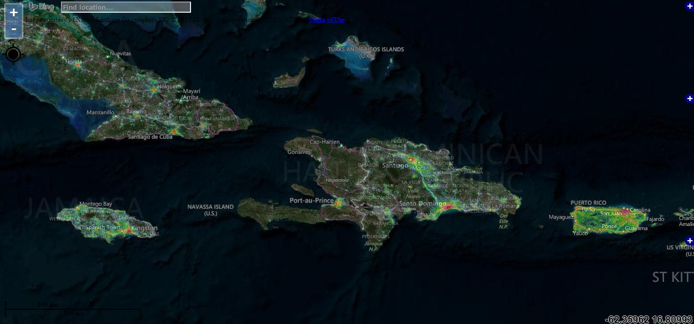 Contaminación lumínica en el Caribe